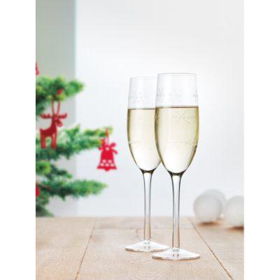Komplet 2 kozarcev za šampanjec