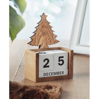 Leseni božični večni namizni koledar
