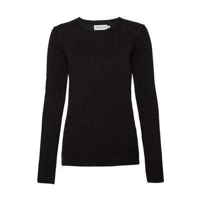 """Ženski pleteni pulover – """"O"""" izrez"""
