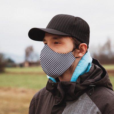 Higienska maska – pralna – moška PEPITA M
