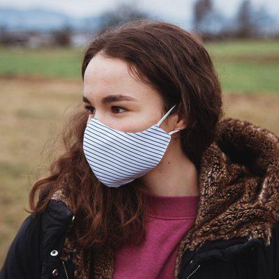 Higienska maska obojestranska – pralna – ženska STRIPPY Ž